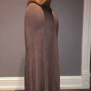 Mauve Maxi Skirt with Slits on the Side
